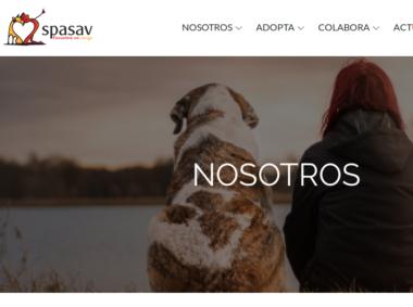 Desarrollo web spasav.es, por Érica Aguado