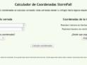 calculadora de coordenadas en php