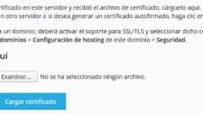 carga de certificados ssl en Plesk