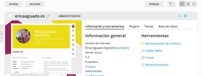 WPToolKit, gestión de WordPress
